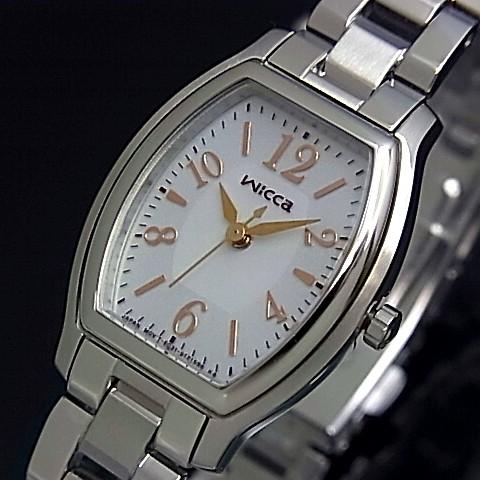 CITIZEN/WICCA【シチズン/ウィッカ】 レディース腕時計 ソーラー腕時計 グレー文字盤 メタルベルト KH8-713-11(国内正規品)