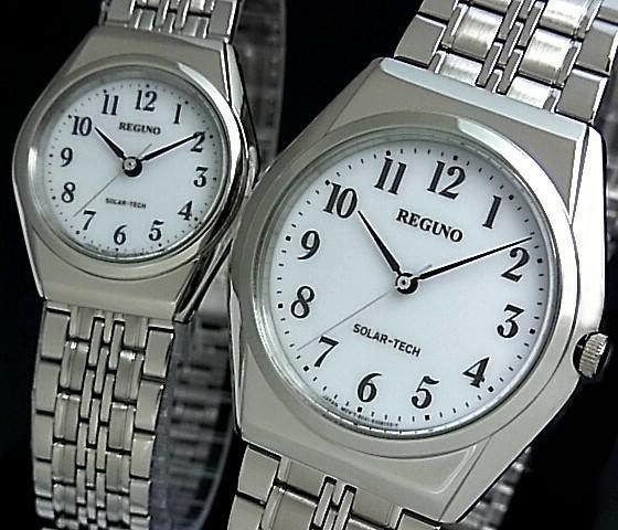 CITIZEN/REGUNO【シチズン/レグノ】ペアウォッチ ソーラー腕時計 ホワイト文字盤 メタルベルト RS25-0043C/RS26-0043C(国内正規品)