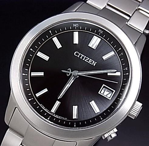 CITIZEN/COLLECTION【シチズン/コレクション】メンズ 電波ソーラー腕時計 ブラック文字盤 メタルベルト(国内正規品)AS1050-58E