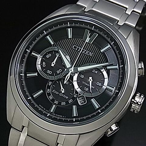 CITIZEN/Chronograph【シチズン/クロノグラフ】チタンモデル メンズ ソーラー腕時計 ブラック文字盤 メタルベルト CA4011-55E MADE IN JAPAN 海外モデル【並行輸入品】