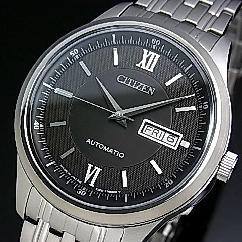 CITIZEN/Automatic【シチズン/オートマチック】自動巻 メンズ腕時計 ブラック文字盤 メタルベルト NY4050-54E(国内正規品)MADE IN JAPAN