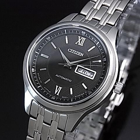 CITIZEN/Automatic【シチズン/オートマチック】自動巻 レディース腕時計 ブラック文字盤 メタルベルト PD7150-54E(国内正規品)MADE IN JAPAN