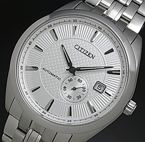 Citizen Automatic Automatic Volume Mens Watch Silver Dial Silver Metal Belt Made In Japan Overseas Model Nj0030 58 A