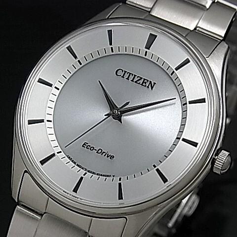 CITIZEN/Standard【シチズン/スタンダード】メンズ ソーラー腕時計 シルバー文字盤 メタルベルト 海外モデル【並行輸入品】BJ6481-58A