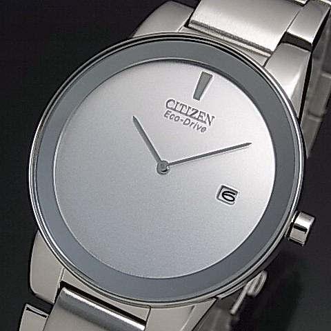 CITIZEN/Standard【シチズン/スタンダード】メンズ ソーラー腕時計 シルバー文字盤 メタルベルト 海外モデル【並行輸入品】AU1060-51A