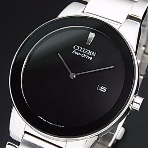 CITIZEN/Standard【シチズン/スタンダード】メンズ ソーラー腕時計 ブラック文字盤 メタルベルト 海外モデル【並行輸入品】AU1060-51E