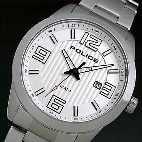 POLICE【ポリス】TROPHY/トロフィー メンズ腕時計 シルバー文字盤 メタルベルト(国内正規品)13406JS-04MA【送料無料】