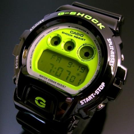 CASIO/G-SHOCK/Baby-G손목시계 페어 워치 블랙/화이트 X그린(해외 모델) DW-6900 CS-1/BG-6903-7
