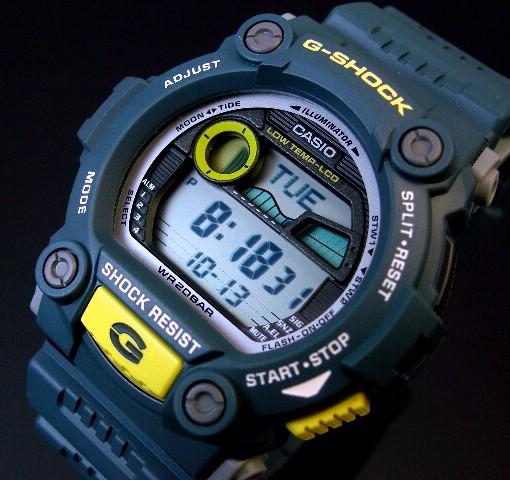 CASIO/G-SHOCK【カシオ/Gショック】メンズ腕時計 タイドグラフ&ムーンデータ搭載 ネイビー G-7900-2 海外モデル【並行輸入品】