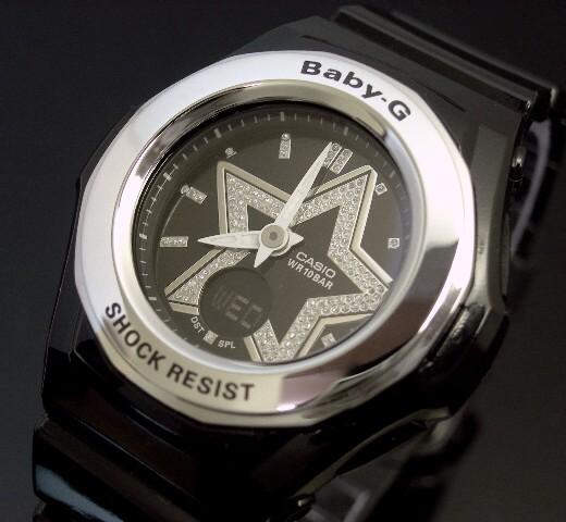 CASIO/Baby-G 스타 인덱스 시리즈 BGA-103-1B 블랙 해외 모델