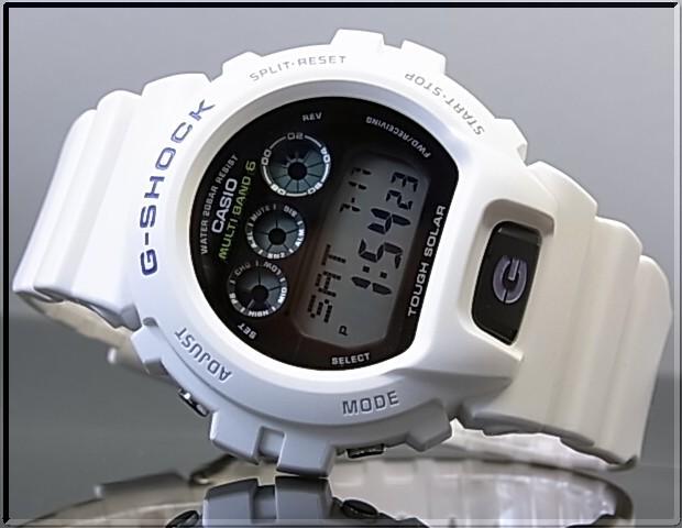 CASIO/G-SHOCK 맨즈 솔러 전파 손목시계 GW-6900 A-7 화이트 해외 모델