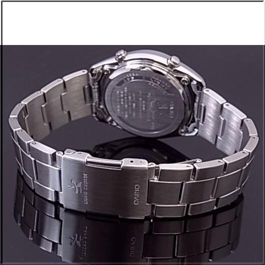 CASIO/Wave Ceptor 남성용 손목시계 솔 러 전파 시계 메탈 벨트 WVQ-110DJ-1A2JF (국내 정품)