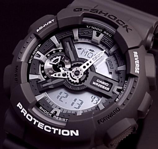 CASIO/G-SHOCK【カシオ/Gショック】アナデジ メンズ腕時計 ダークグレー GA-110C-1A 海外モデル【並行輸入品】