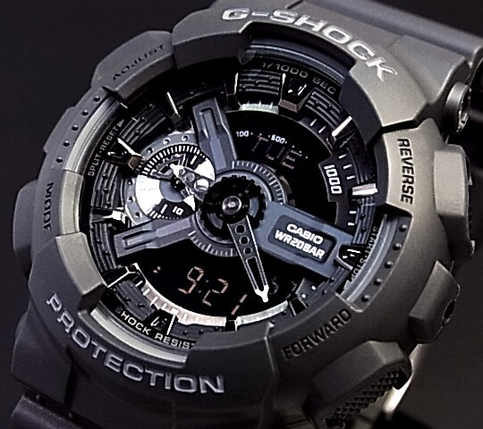 CASIO G-SHOCK an analog-digital men s Watch Black GA-110-1B overseas models 02a301260132
