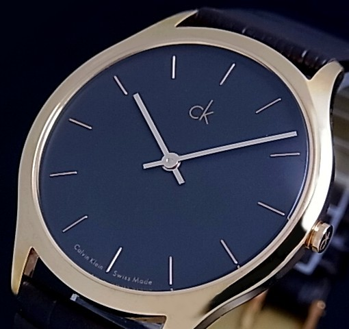 bright rakuten global market calvin klein men watch gold case calvin klein men watch gold case black clockface brown leather belt k2621530