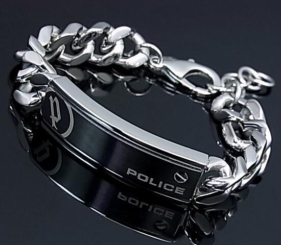 POLICE/accessory【ポリスアクセ】UNIVER プレート&チェーン ステンレスブレスレット【送料無料】25334BSS01(国内正規品)