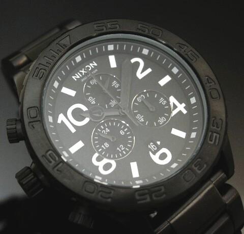 NIXON【ニクソン】THE 42-20 CHRONO メンズ腕時計 ALL BLACK ダイバーズ【送料無料】A037-001(国内正規品)