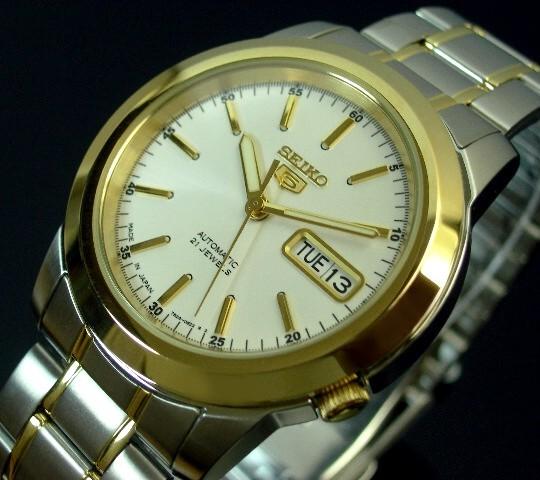 SEIKO/SEIKO5【セイコー5/セイコーファイブ】自動巻 メンズ腕時計 コンビメタルベルト ホワイト文字盤 MADE IN JAPAN セイコーファイブ SNKE54J1 海外モデル【並行輸入品】