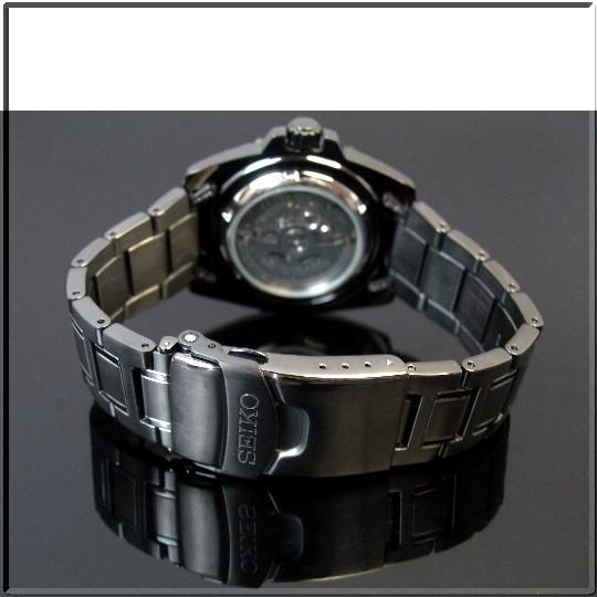 SEIKO/SEIKO5 Sports 자동권맨즈 손목시계 MADE IN JAPAN 블랙 메탈 벨트 블랙 문자판 SNZG41J1 (해외 모델)