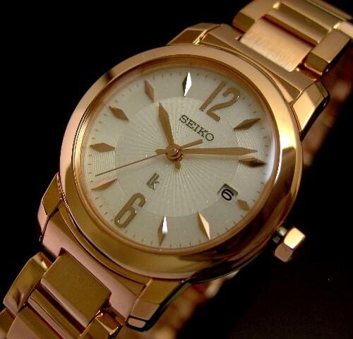 SEIKO/LUKIA Lady's watch pink gold white clockface metal belt SSVK126( domestic regular article)
