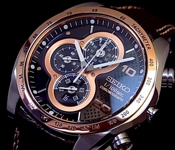 bright rakuten global market seiko x2f ignition1 x2f 100 seiko ignition1 100 second chronograph men watch brown clockface brown leather belt sbhp017