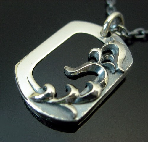RUSS-K/Silver accessory【ラス-ケイ/シルバーアクセ】オニキスプレートネックレス【送料無料】RK106N(国内正規品)