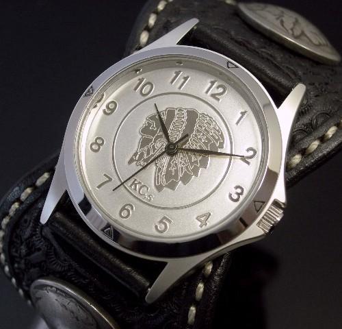 KC,s/ケイシイズ【ESPANOLA BASKET/エスパニョーラ バスケット】メンズ腕時計 ブラック レザーベルト【送料無料】KPR011-SVFEBK