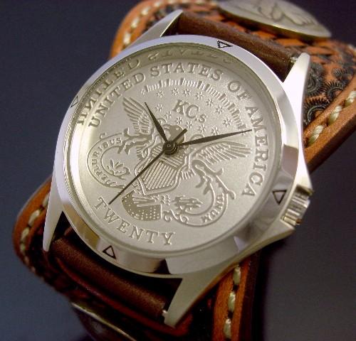 KC,s/ケイシイズ【ESPANOLA BASKET/エスパニョーラ バスケット】メンズ腕時計 アーモンド レザーベルト【送料無料】KPR011-SVIGAR