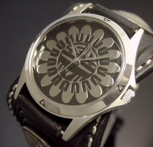 KC,s/ケイシイズ【ESPANOLA BASKET/エスパニョーラ フリーカット】メンズ腕時計 ブラック レザーベルト【送料無料】KPR012-BKSU0BK
