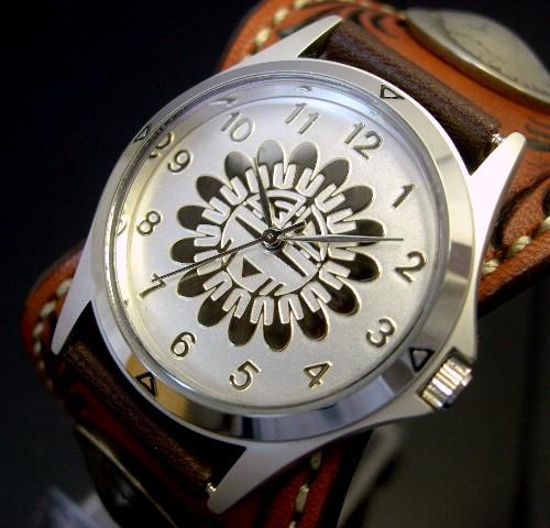 KC,s/ケイシイズ【ESPANOLA BASKET/エスパニョーラ フリーカット】メンズ腕時計 アーモンド レザーベルト【送料無料】KPR012-SVSU1AR