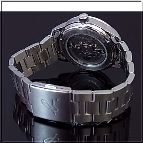Agnes b men watch self-winding watch black clockface metal belt BK9008J