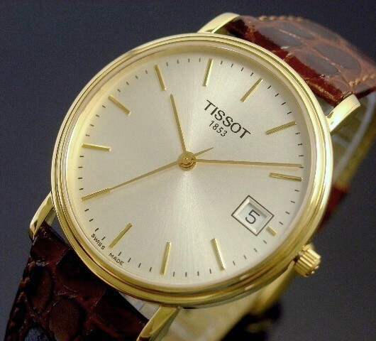 TISSOT【ティソ】メンズ腕時計 シルバー文字盤 ブラウンレザーベルト【送料無料】T52.5.411.31