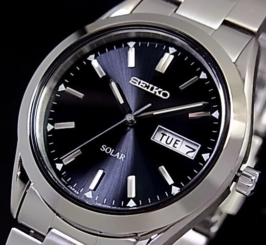 Germany Solar Power >> BRIGHT: SEIKO / solar watches mens watch metal belt black
