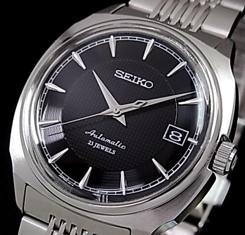 SEIKO/Mechanical Series 자동 권 남자 시계 블랙 문자판 메탈 벨트 SARB039 (국내 정품)