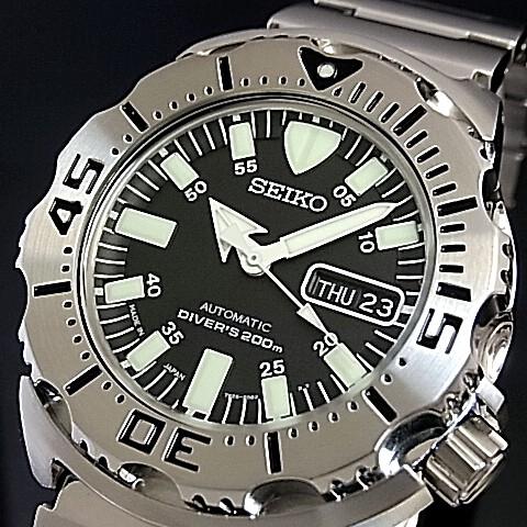 SEIKO/200m diver 's watch 자동 권 남자 시계 메탈 벨트 블랙 문자판 MADE IN JAPAN 해외 모델 SKX779J1