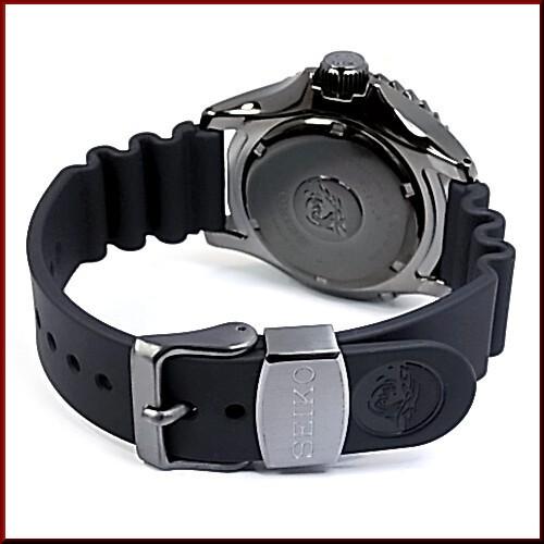 SEIKO/PROSPEX 마린 마스터 キネテック 다이렉트 드라이브 남성 시계 블랙 문자판 블랙 고무 벨트 MADE IN JAPANSBDD003 (국내 정품)