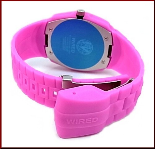 SEIKO/WIRED men watch DELTA SKULL/ delta scull pink belt pink / black clockface (domestic regular article )AGAT015)