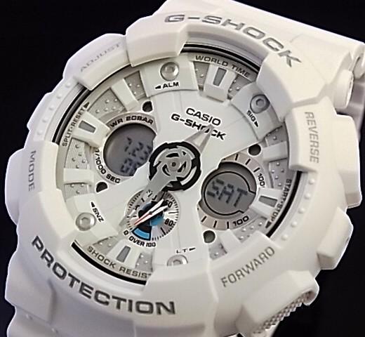 CASIO/G-SHOCK 맨즈 손목시계 아나데지모데르화이트(국내 정규품) GA-120 A-7 AJF