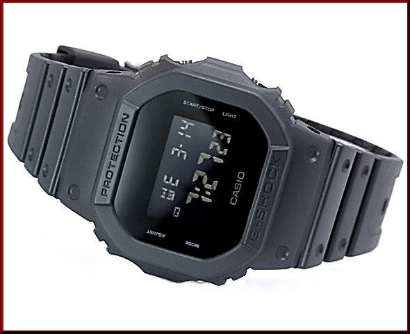CASIO/G-SHOCK/Baby-G PA watch watch Solid Colors series black DW-5600BB-1/BG-5606-1 abroad model