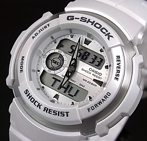 CASIO/G-SHOCK【カシオ/Gショック】G-SPIKEシリーズ ホワイト G-300LV-7AJF(国内正規品)