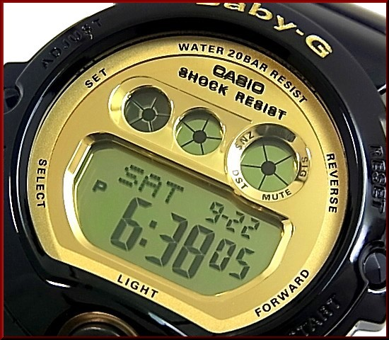 CASIO/G-SHOCK/Baby-G페어 워치 손목시계 블랙/골드 DW-6900 CB-1/BG-6901-1(해외 모델)