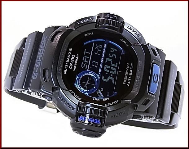 CASIO/G-SHOCK 라이즈만 Initial Blue/이니셜 블루 솔러 전파 손목시계(국내 정규품) GW-9230 BJ-1 JR