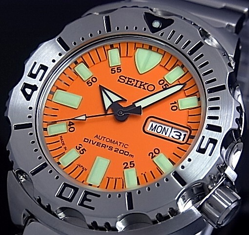 SEIKO/200m diver's watch self-winding watch men watch metal belt orange clockface MADE IN JAPAN foreign countries model SKX781J1
