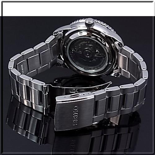 SEIKO/SEIKO5 Sports 자동 권 남자 시계 MADE IN JAPAN 메탈 벨트 블랙 문자판 SRP127J1 해외 모델 SARZ007
