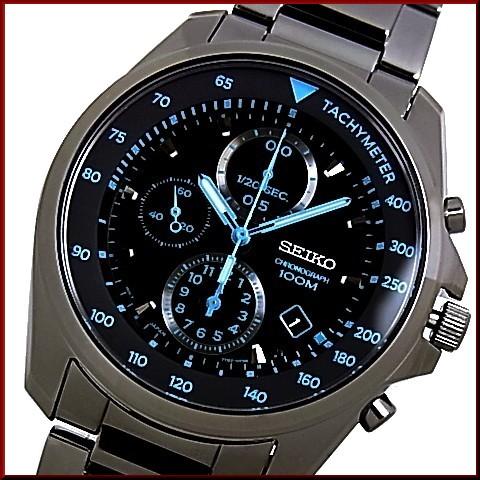 bright rakuten global market seiko x2f chronograph men watch seiko chronograph men watch black metal belt black blue clockface sndd67p1 foreign countries model