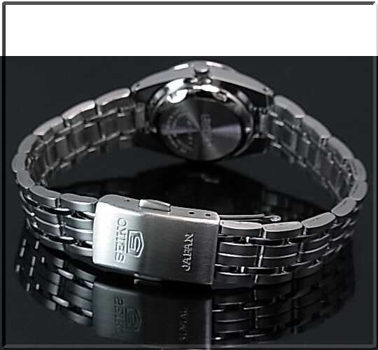 SEIKO/SEIKO5 쌍 감시 자동 감기 시계 메탈 벨트 블랙 문자판 MADE IN JAPAN SNK567J1/SYMB99J1 (해외 모델)