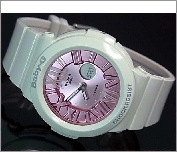 CASIO/Baby-G 네온 전화 시리즈 ブルーミングパステル 여성용 시계 화이트/핑크 (해외 모델) BGA-161-7B2