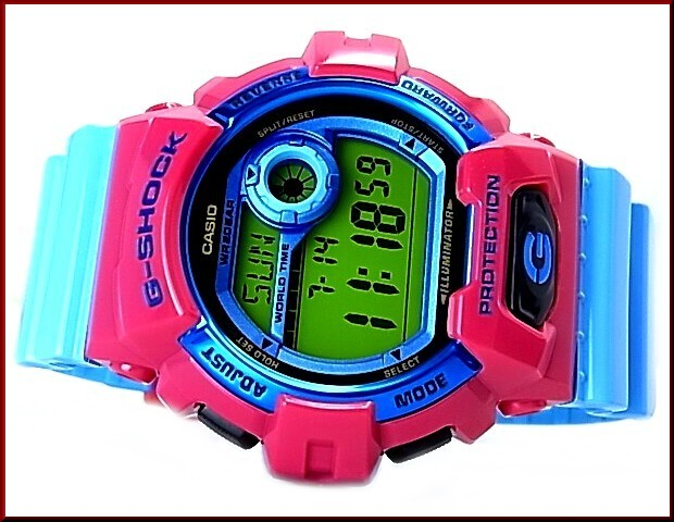 CASIO/G-SHOCKCrazy Colors/쿠레이지카라즈멘즈 손목시계 핑크/블루(국내 정규품) G-8900 SC-4 JF