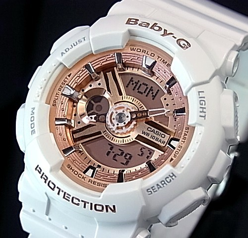 Bright Casio Baby G Lady S Watch White Pink Foreign