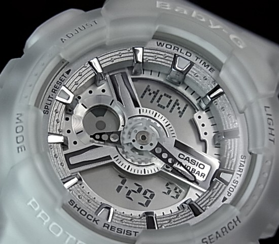 CASIO/Baby-G Lady's watch clear skeleton (overseas model )BA-110-7A2)